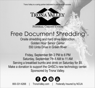 Free Document Shredding