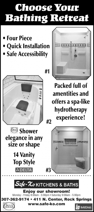 Choose Your Bathing Retreat