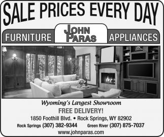 John Paras Furniture, John Paras Furniture Rock Springs