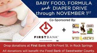 Drop Donations at First Bank