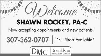 Welcome Shawn Rockey, PA-C