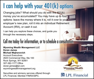 I Can Help with your 401(k) Options