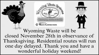 Closed November 28th
