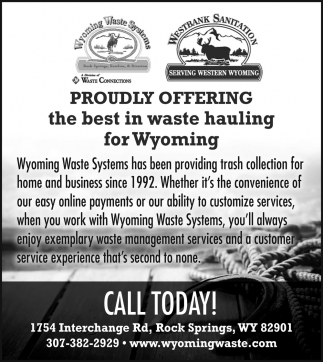 Best in Waste Hauling for Wyoming