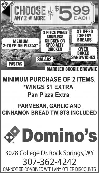Minimum Purchase of 2 Items