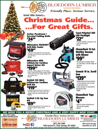 Christma Guide... For Great Gifts