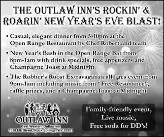 The Outlaw Inn's Rockin' & Roarin' New Year's Eve Blast!