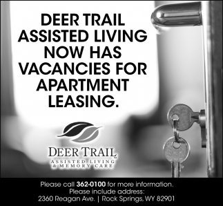 Deer Trail Assisted Living Now Has Vacancies for Apartment Leasing