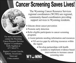 Cancer Screening Saves Lives!