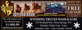 Wyoming's Largest Pre-Owned Automotive Dealership