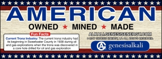 American Owned, Mined, Made