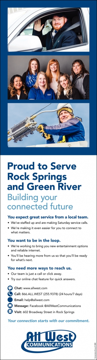 Proud to Serve Rock Springs & Green River