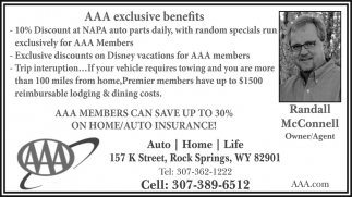 AAA Members Can Save Up to 30% On Home/Auto Insurance!