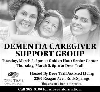 Dementia Caregiver Support Group