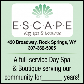 A Full-Service Day Spa & Boutique Serving Our Community for Years!