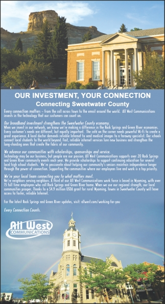 Our Investment, Your Connection