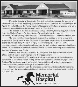 Memorial Hospital will be closing