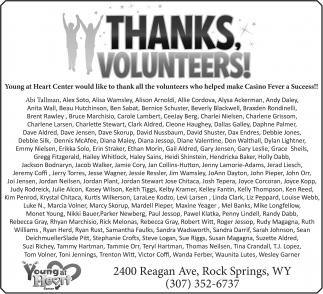 Thanks, Volunteers!