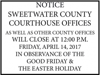 Will Close at 12:00 PM