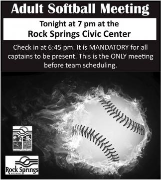 Adult Softball meeting