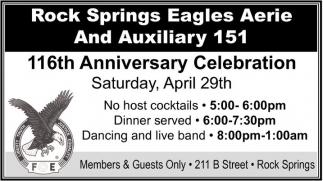 116th Anniversary Celebration