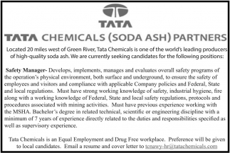 Chemicals (Soda Ash) Partners