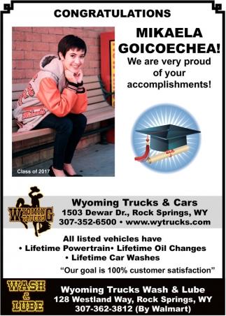 Congratulations Mikaela Goicoechea