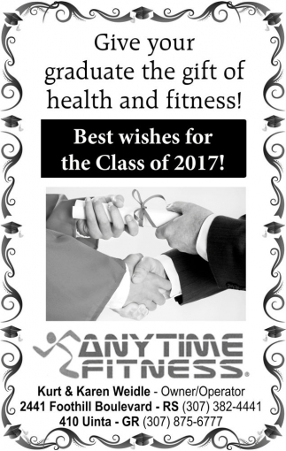 Give your graduate the gift of health and fitness!!