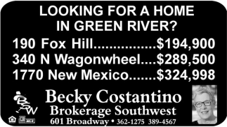 Looking for a home in Green River?